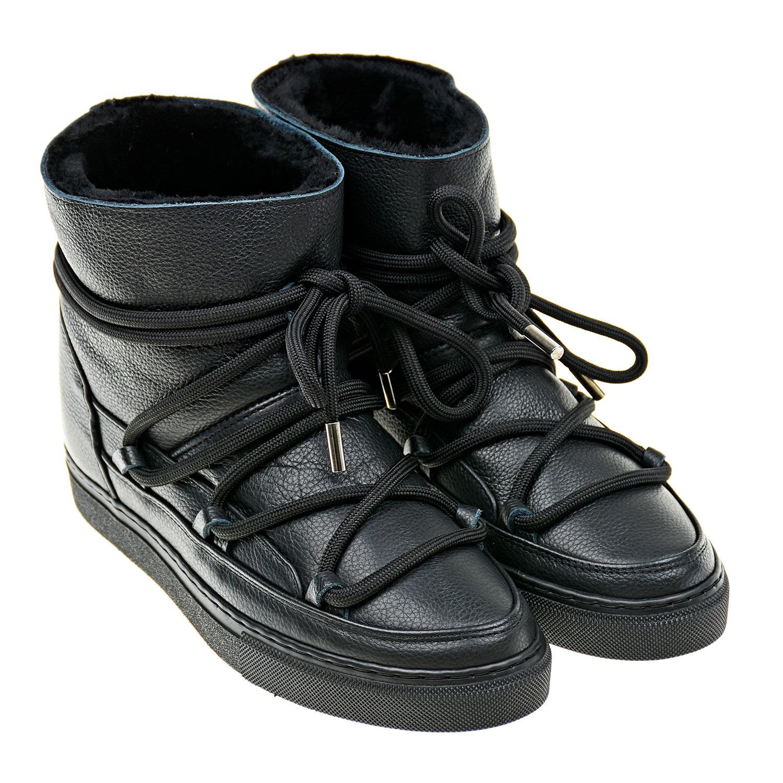 Кожаные мунбуты на шнуровке INUIKII детские фото