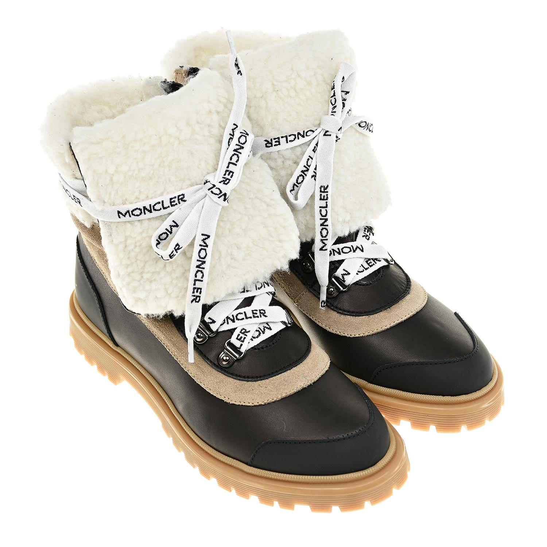 Высокие ботинки с замшевыми вставками Moncler фото