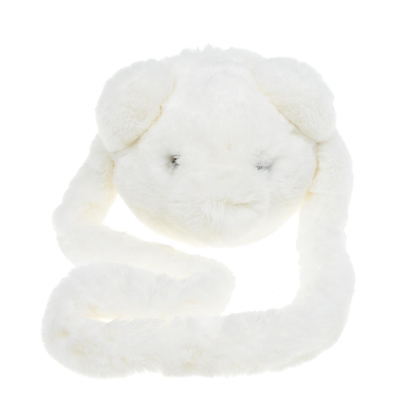 Белая сумка из меха кролика Yves Salomon детская фото