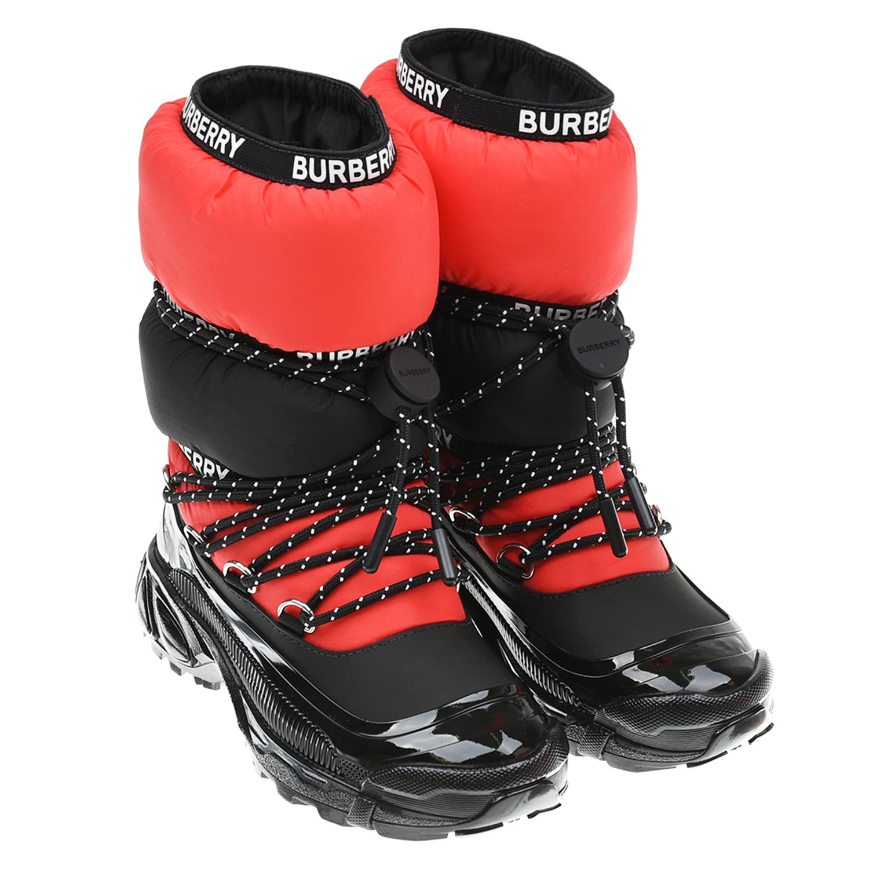 Красно-черные мунбуты Burberry детское