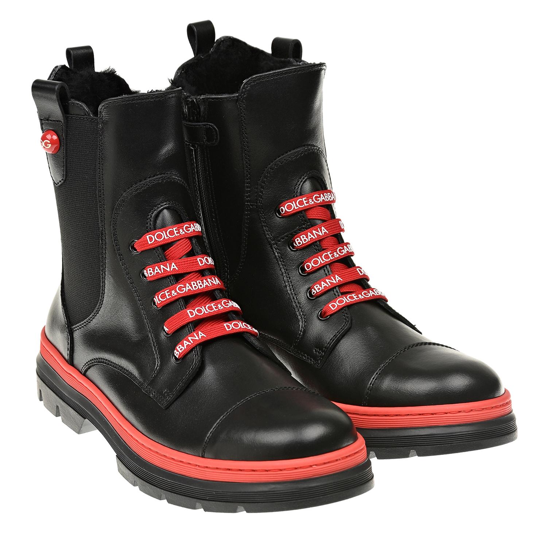 высокие ботинки dolce & gabbana для девочки
