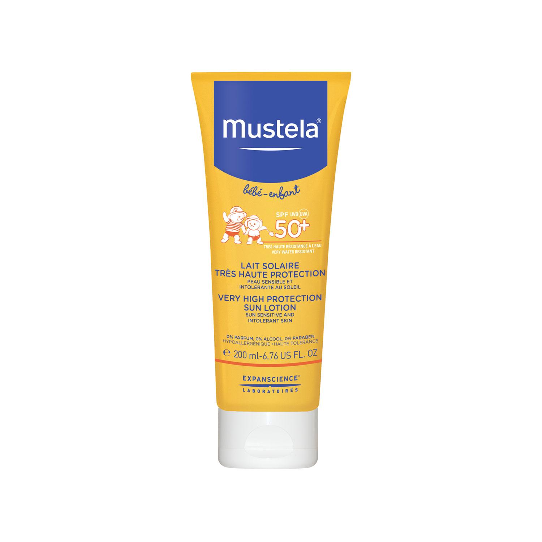 Молочко Mustela солнцезащитное Spf50+ c очень высокой степенью защиты