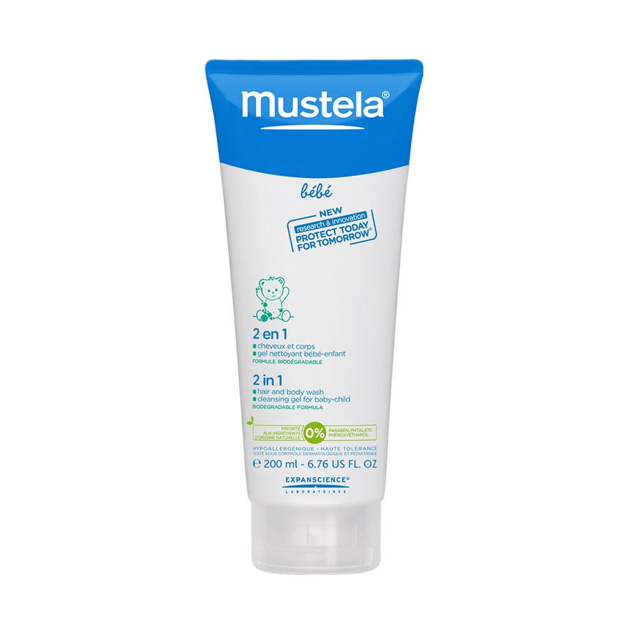 Гель-шампунь Mustela  для головы и тела 2 в 1