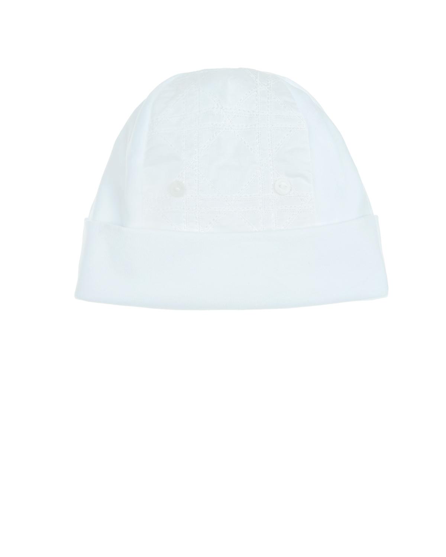 Купить Белая шапка с вышивкой «Cannage», Dior