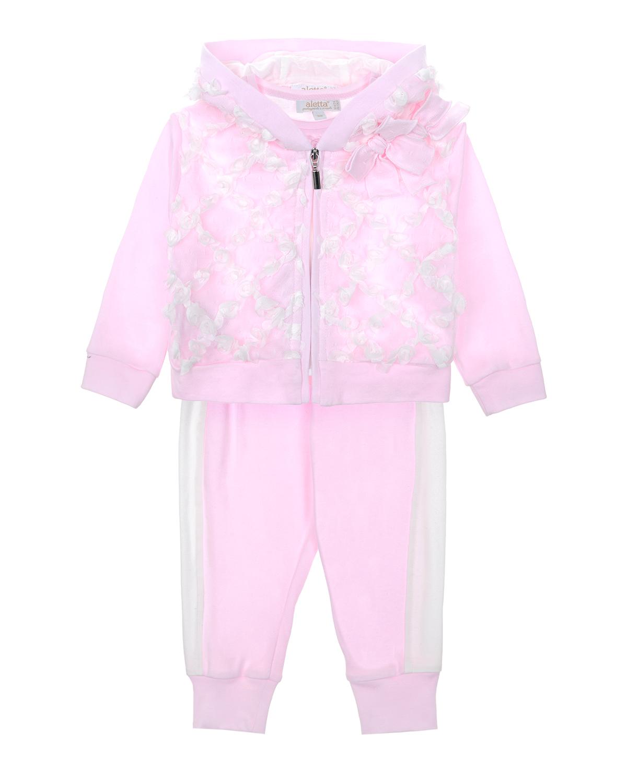 Купить Костюм спортивный Aletta детский, Розовый, 100%хлопок, 100%полиэстер