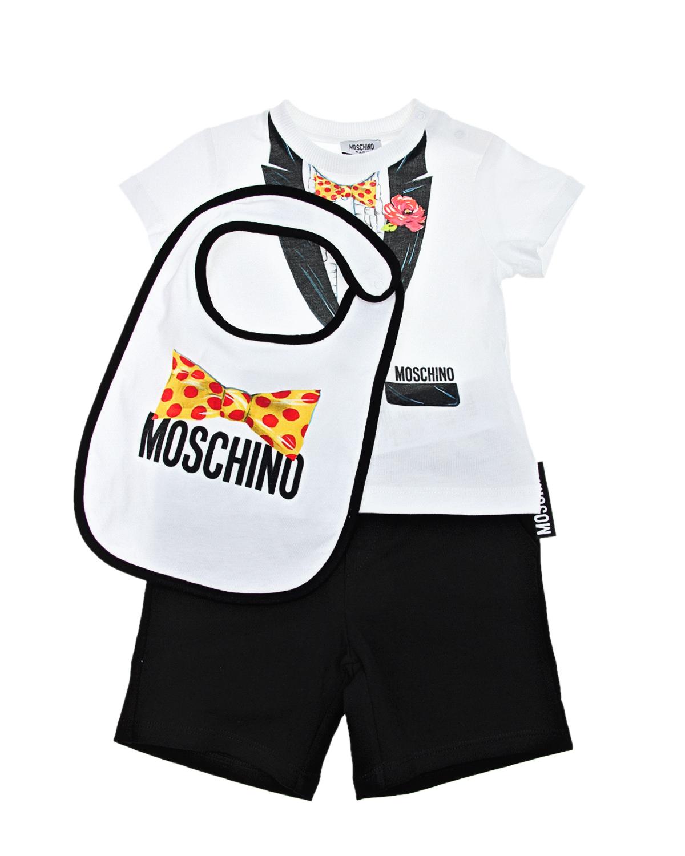 Подарочный набор с имитацией смокинга Moschino детский фото