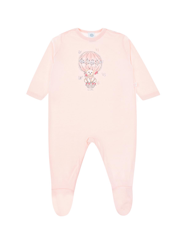 Купить Комбинезон персикового цвета Sanetta детский, Розовый, 100%хлопок