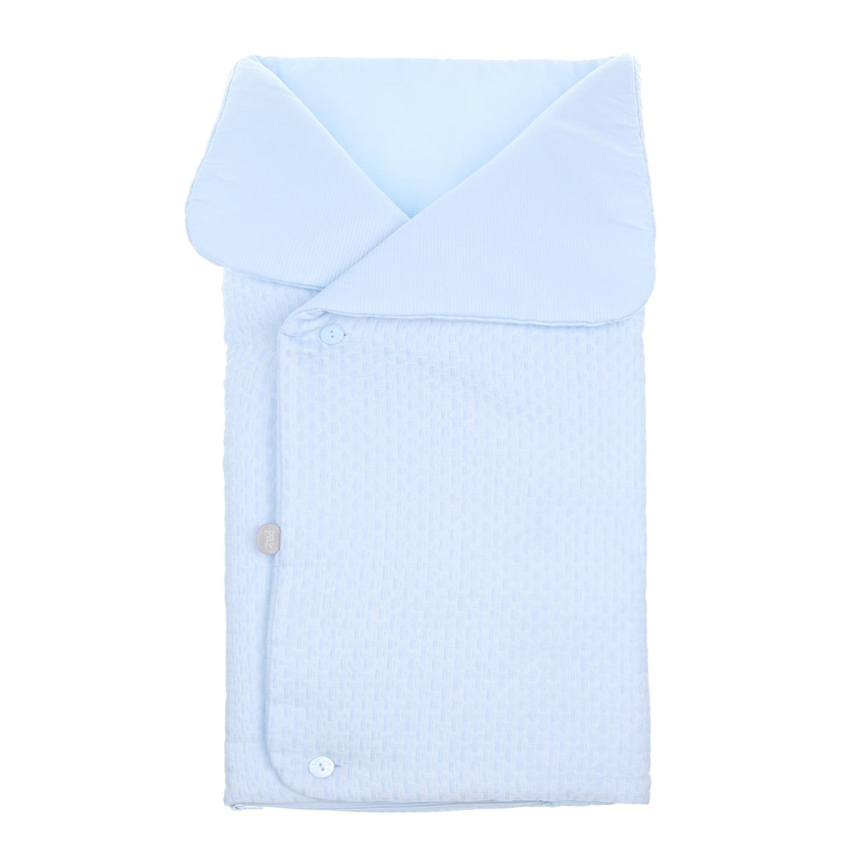 Купить Конверт из фактурного хлопка в полоску Paz Rodriguez детский, Голубой, 100%хлопок, 60%хлопок+40%полиэстер