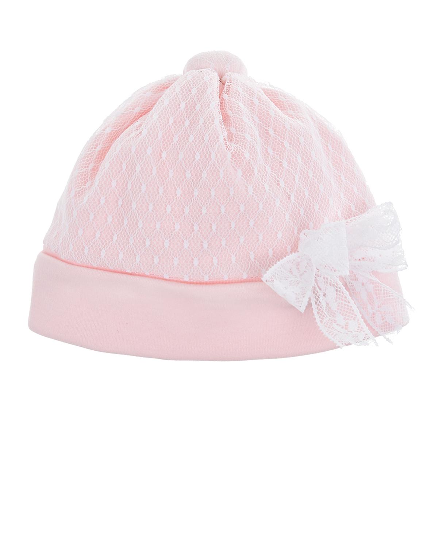 Розовая шапка с кружевной отделкой Aletta.