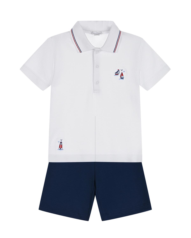 Комплект: футболка-поло и шорты Kissy Kissy детский фото