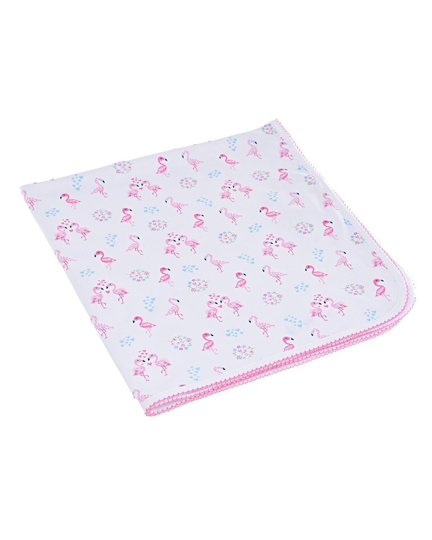 Купить Плед с принтом фламинго Kissy Kissy детский, Белый, 100%хлопок