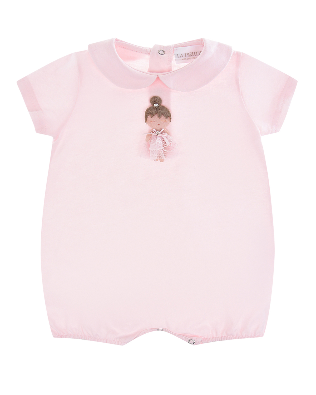 Купить Розовый песочник с аппликацией девочка La Perla детский, 100%хлопок