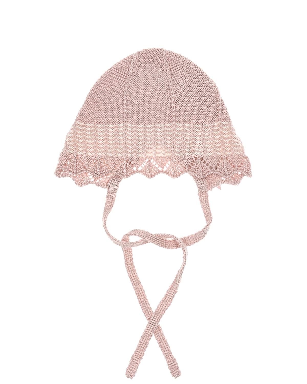Купить Розовый вязаный чепчик Paz Rodriguez детский