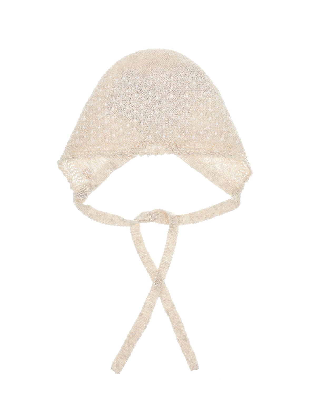 Купить Бежевый чепчик ажурной вязки Paz Rodriguez детский