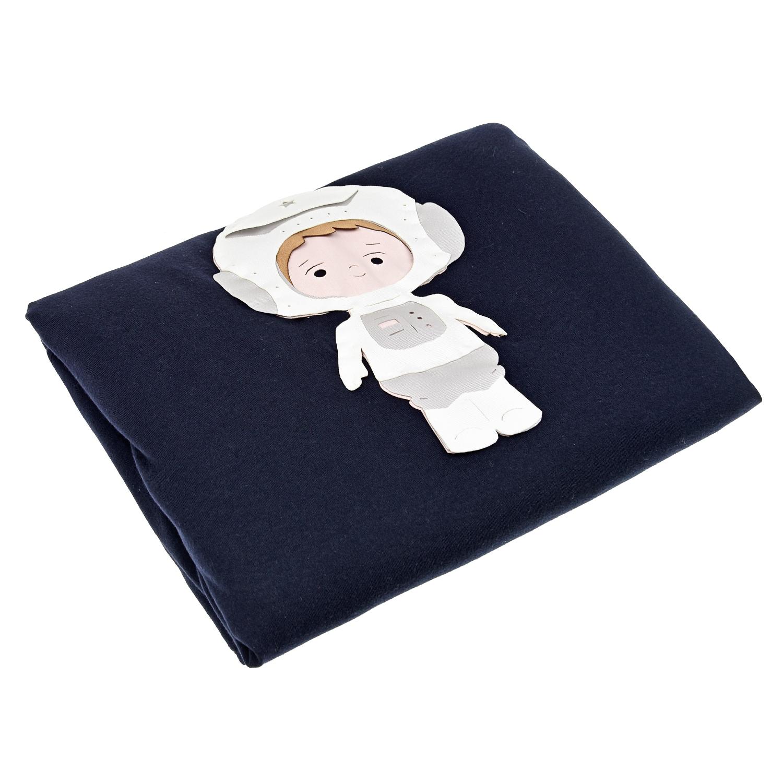 """Синее одеяло с аппликацией """"Космонавт"""" Story Loris детское фото"""