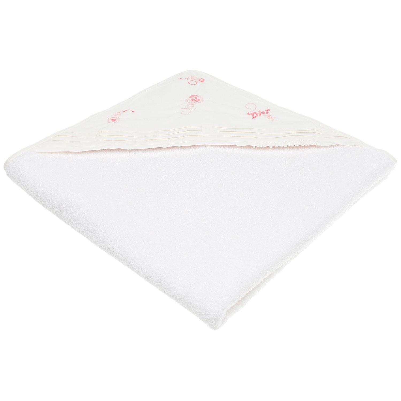 """Махровое полотенце с вышивкой """"Розы"""" Dior детское фото"""