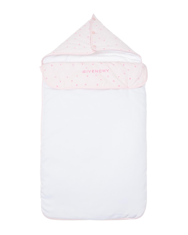 Купить Розовый конверт с вышитым логотипом Givenchy детский, 50%хлопок+50%полиэстер, 100%хлопок, 100% полиэстер
