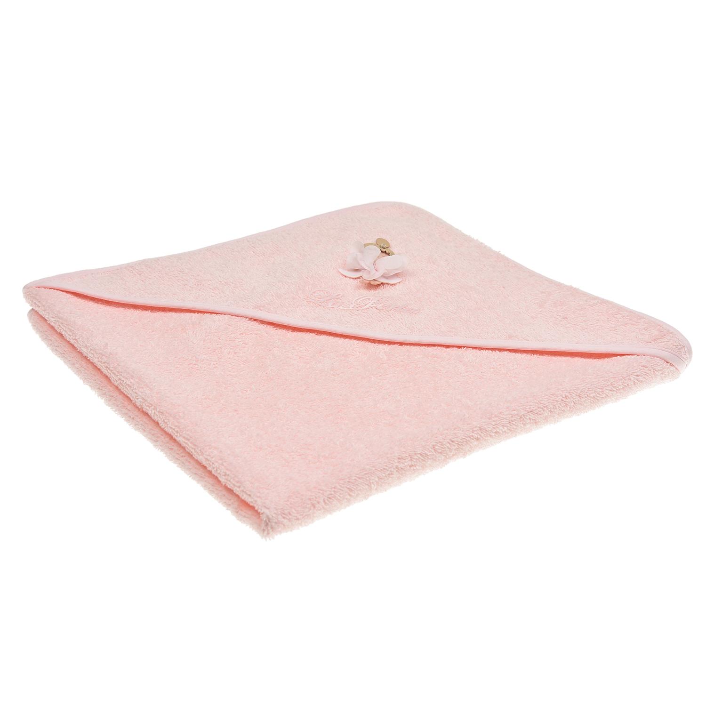 Купить Розовое полотенце с аппликацией Балерина , 65x65 см La Perla детское, Розовый, 100%хлопок