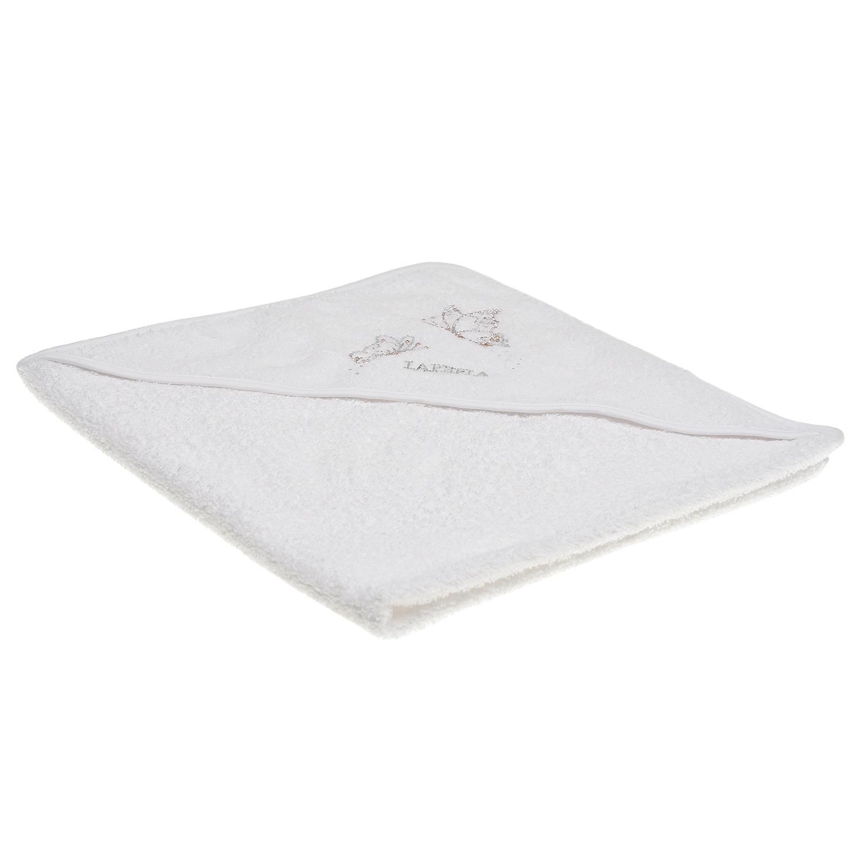 Купить Белое полотенце с аппликацией Бабочки , 65x65 см La Perla детское, Белый, 100%хлопок