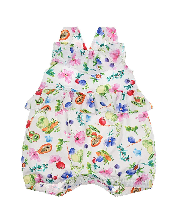 Купить Песочник с принтом цветы и фрукты Aletta детский, Мультиколор, 100%хлопок