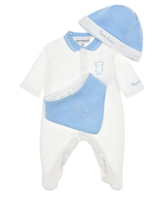 Купить Подарочный набор из трех деталей Emporio Armani детский, Мультиколор, 100%хлопок
