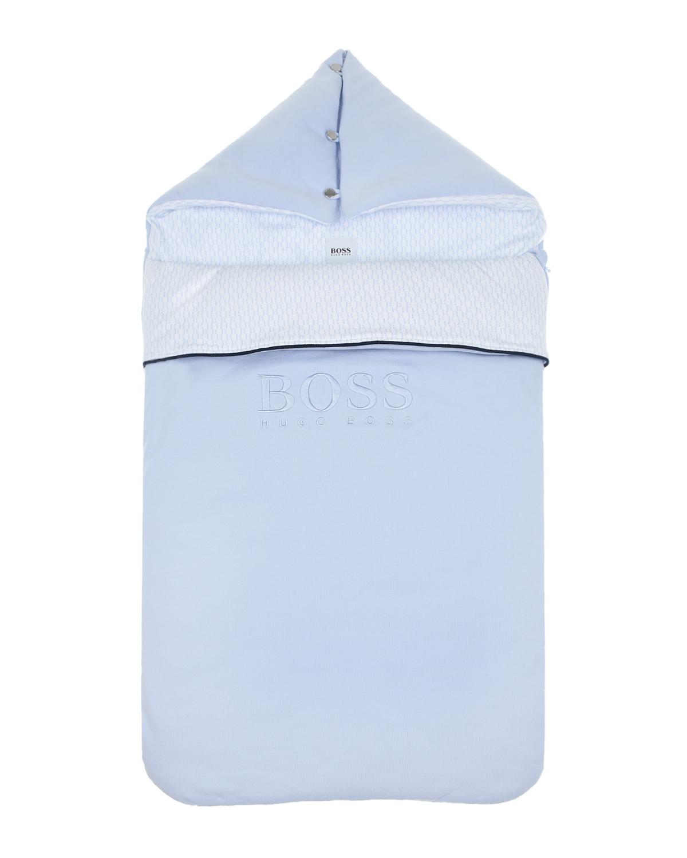 Купить Голубой конверт для новорожденного Hugo Boss детский, 100%хлопок, 95%хлопок+5%эластан, 100%полиэстер