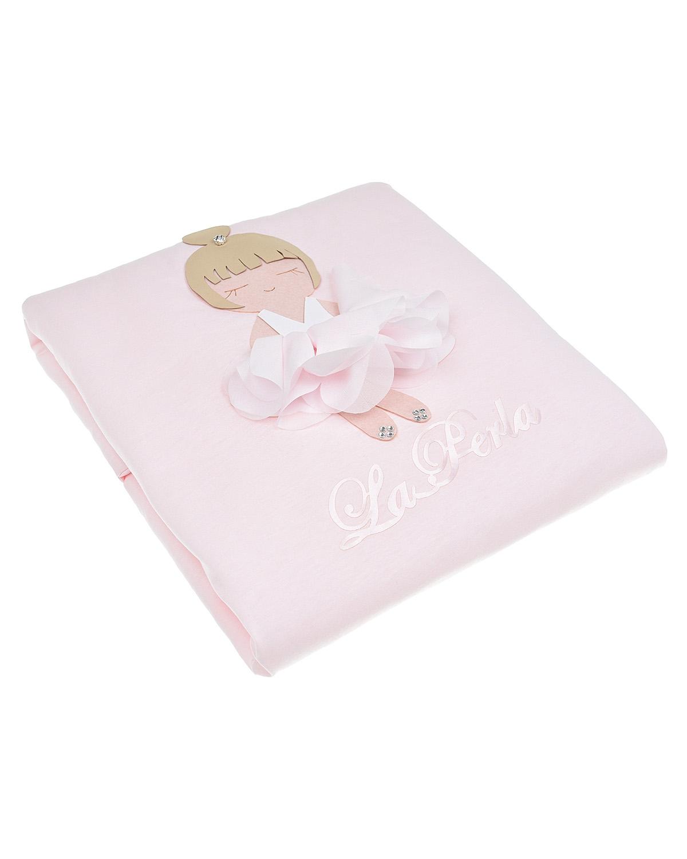 Купить Одеяло с аппликацией Балерина La Perla детское, Розовый, 100%хлопок, 100%полиэстер
