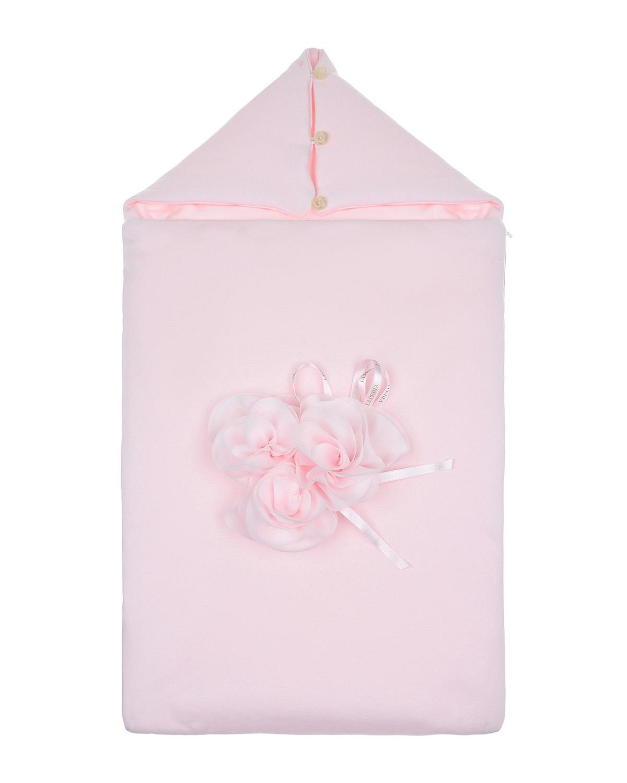Розовый конверт с аппликацией La Perla детский розового цвета