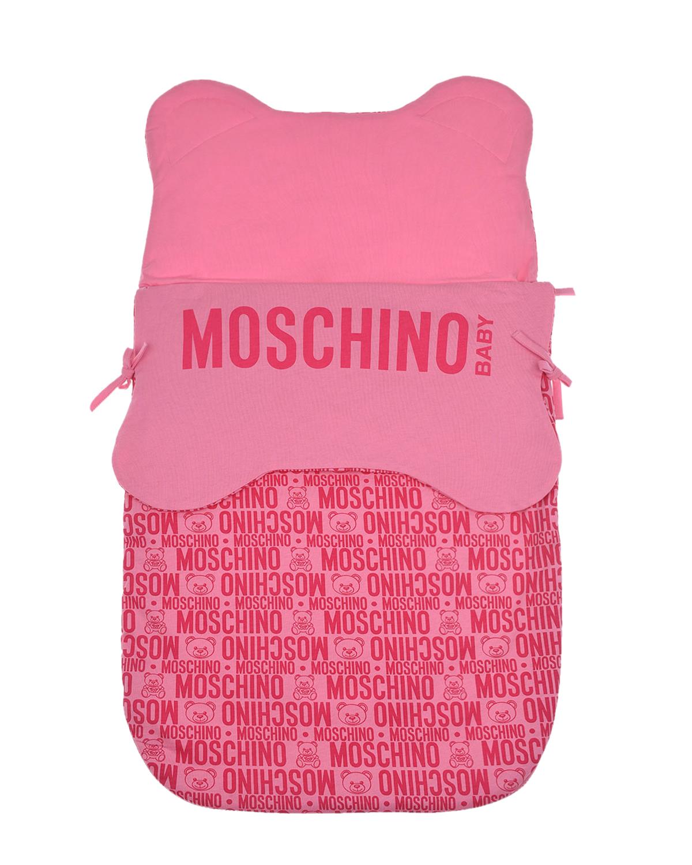 Розовый конверт с логотипом Moschino детский розового цвета