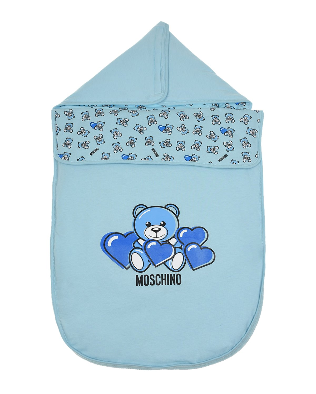 """Голубой конверт с принтом """"медвежонок"""" Moschino детский Голубой конверт с принтом """"медвежонок"""" Moschino детски голубого цвета"""