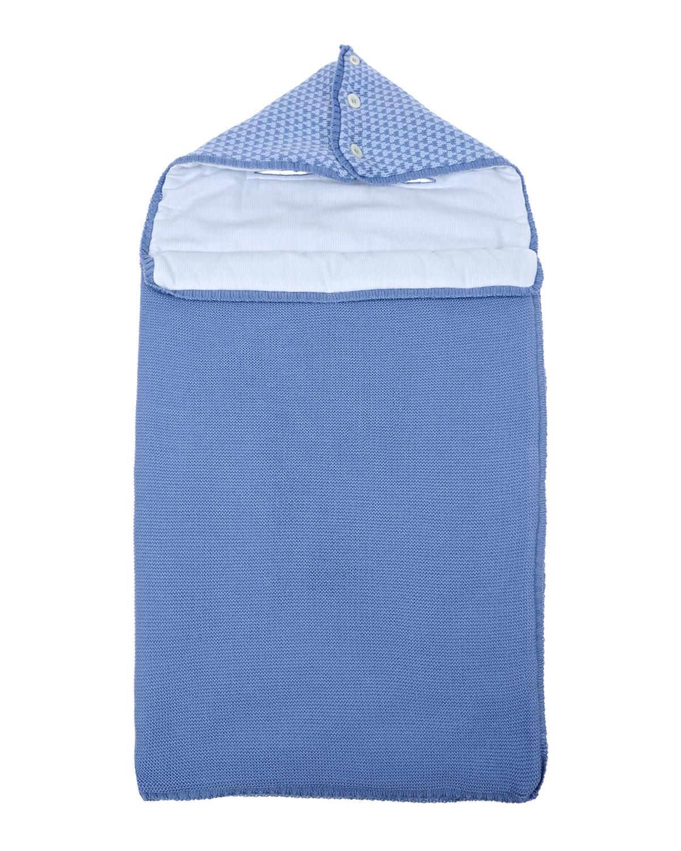 Конверт из мериносовой шерсти KYO детский синего цвета