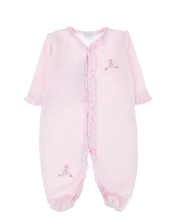 Розовый комбинезон с рюшами Kissy Kissy детский фото