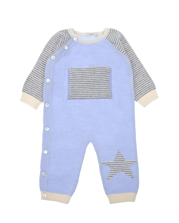 Комбинезон с рукавом реглан из шерсти мериноса и кашемира Tomax детский фото