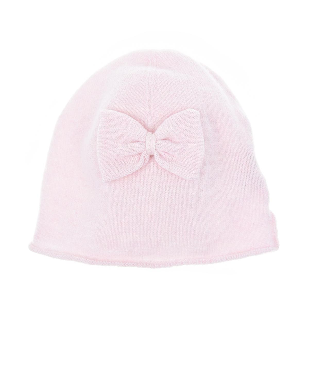 Розовая шапка шерсти и кашемира Per teШапки<br>Розовая шапка Per te из шерсти с добавлением кашемира, декорирована небольшим бантом.