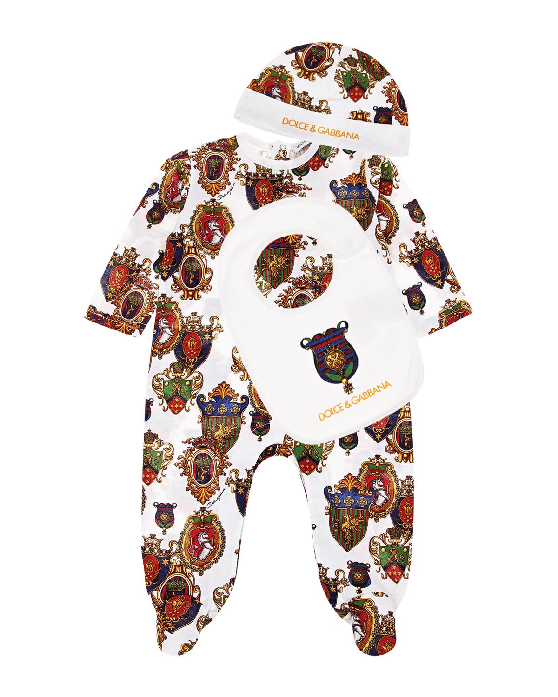 """Комплект подарочный с принтом """"гербы"""" Dolce&Gabbana детский фото"""