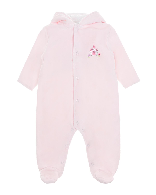 Купить Розовый комбинезон с вышивкой замок Kissy Kissy детский, 80%хлопок+20%полиэстер