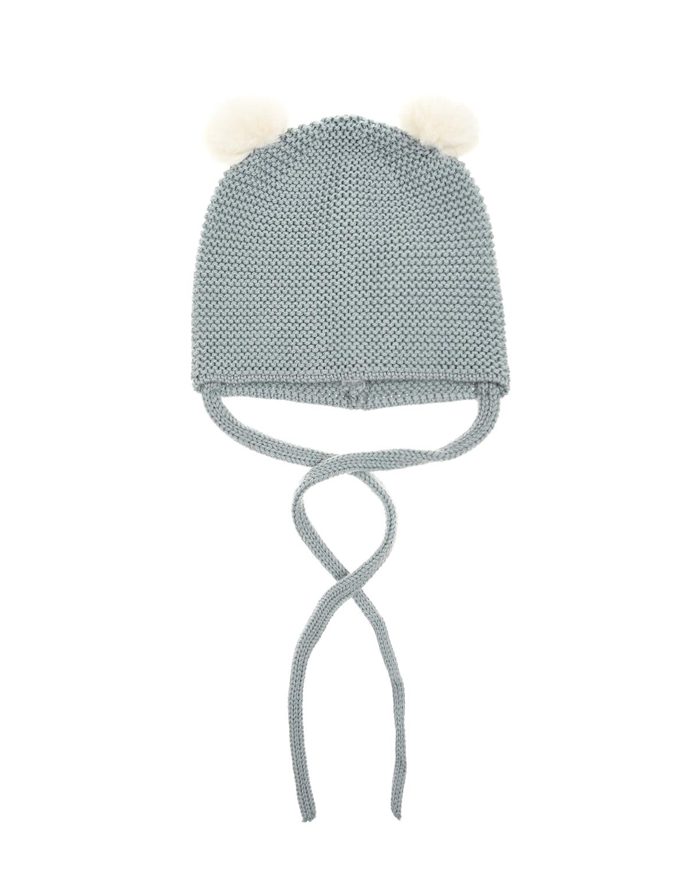 Купить Вязаная шапка из шерсти с помпонами Paz Rodriguez