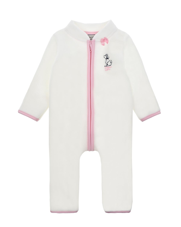 Купить Комбинезон из флиса с розовой окантовкой Sanetta fiftyseven детский, Нет цвета, 65%полиэстер+35%хлопок