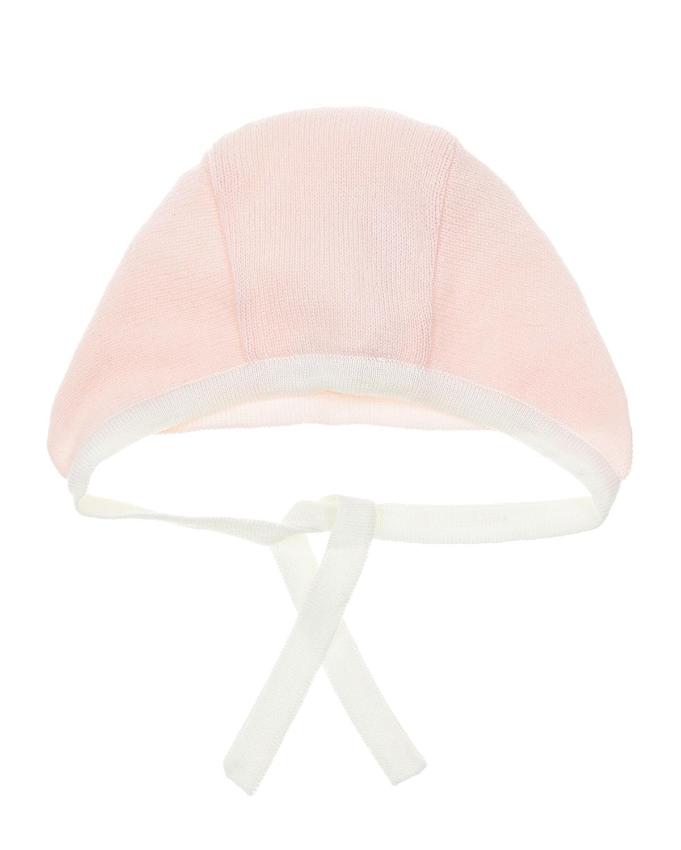 Розовый чепчик на завязках Tomax детский фото