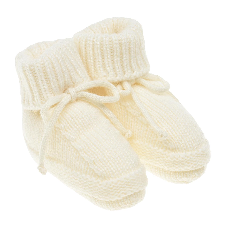 Белые кашемировые пинетки Tomax детские фото
