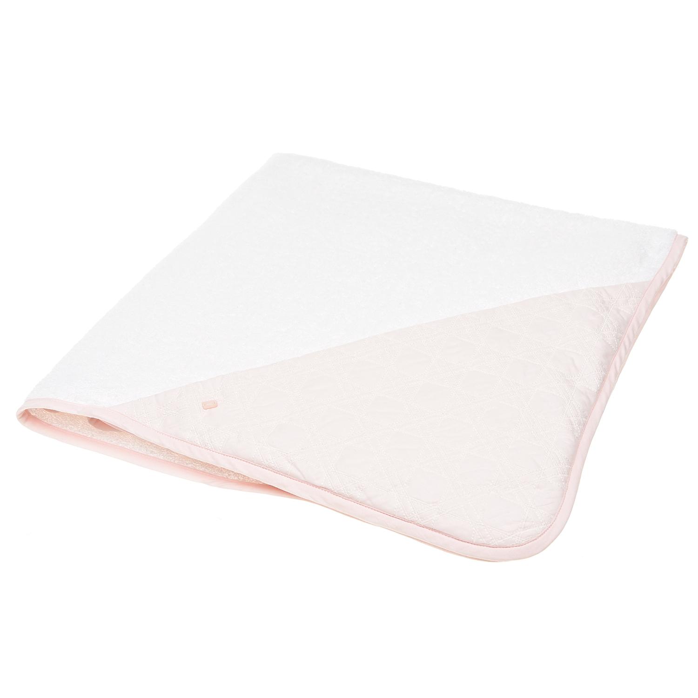 """Бело-розовое полотенце-уголок с вышивкой """"Сannage"""" Dior детское фото"""