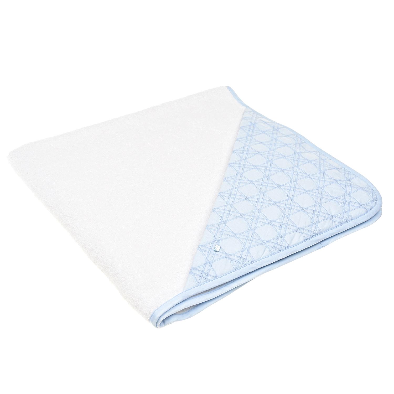 """Бело-голубое полотенце-уголок с вышивкой """"Сannage"""" Dior детское фото"""