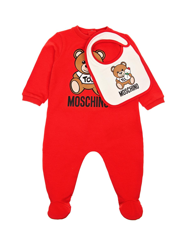 Красный подарочный комплект Moschino детский фото
