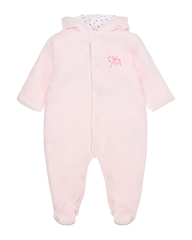 Купить Розовый комбинезон на синтепоне Kissy Kissy детский, 80%хлопок+20%полиэстер, 100%хлопок, 100%полиэстер