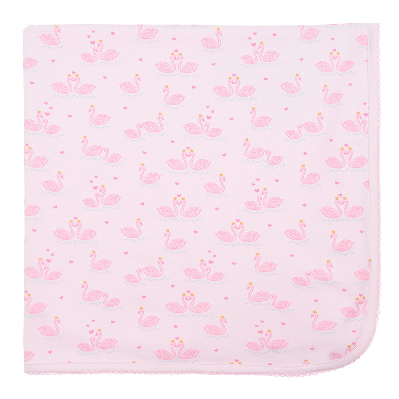 Купить Плед с принтом Лебеди Kissy Kissy детский, Розовый, 100% хлопок