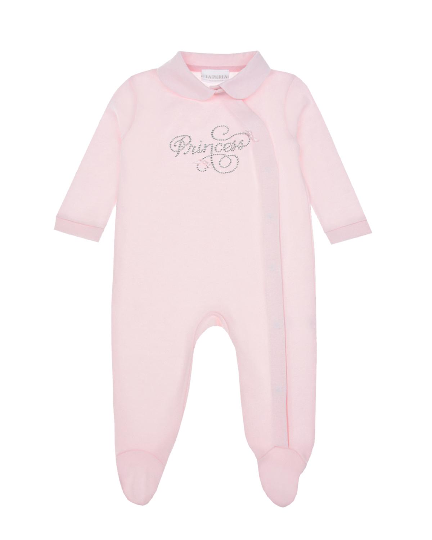 Купить Розовый комбинезон с надписью Princess La Perla детский, 100%хлопок