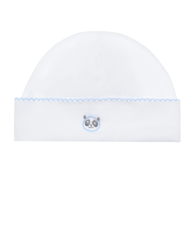 Купить Белая шапка с вышивкой панды Lyda Baby детская, Белый, 100%хлопок