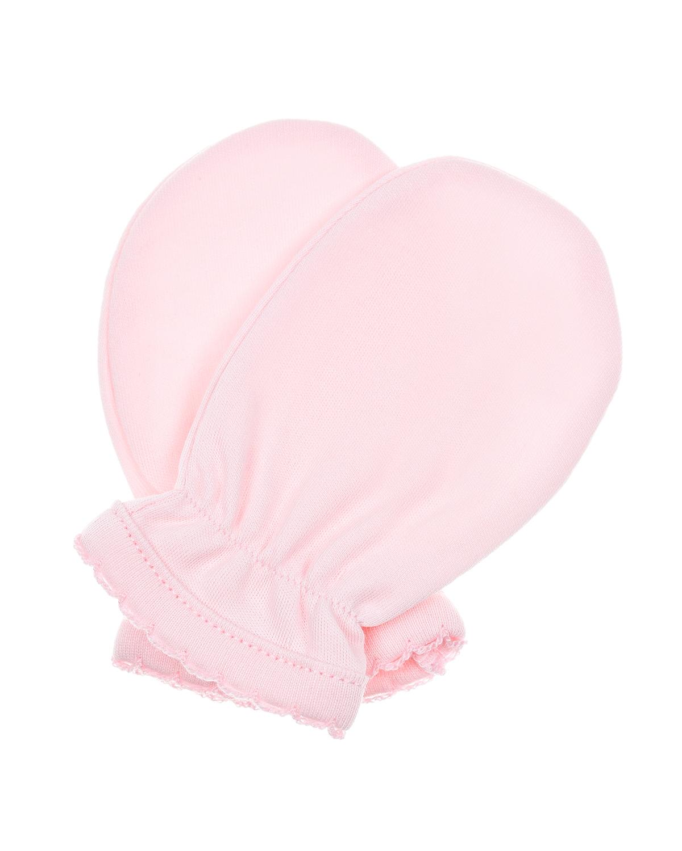 Купить Розовые варежки-царапки из хлопка Lyda Baby детские, Розовый, 100%хлопок