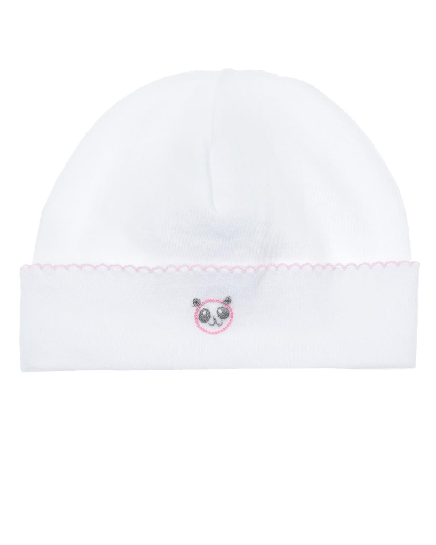 Купить Шапка с вышивкой панда Lyda Baby детская, Белый, 100%хлопок
