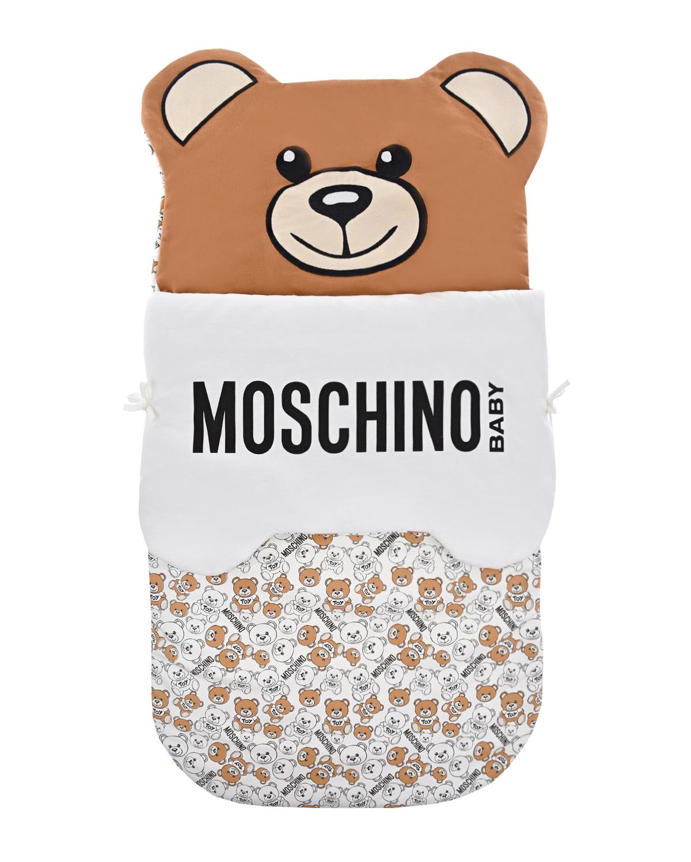Купить Конверт для новорожденного с принтом медвежата Moschino детский, Мультиколор, 95% хлопок+5% эластан, 100% хлопок, 100% полиэстер